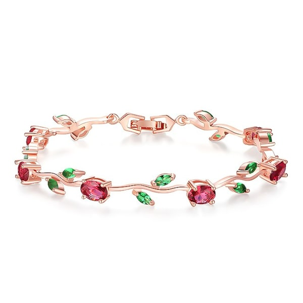 Colored rose crystal bracelet
