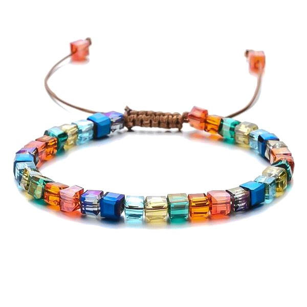 Colorful Beaded Crystal Bracelet