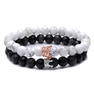Crown distance bracelets for couples