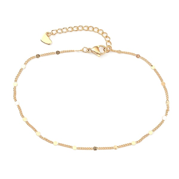 Delicate gold chain anklet