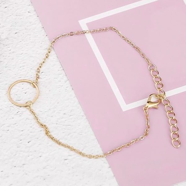 Gold minimalist ankle chain