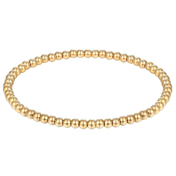 Gold beaded bracelet 4mm