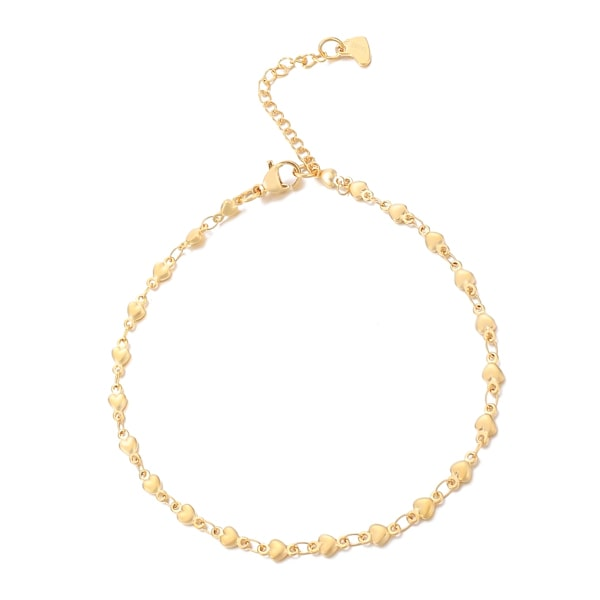 Gold heart chain anklet