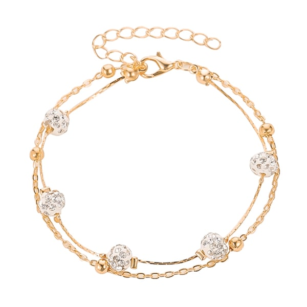 Gold layered crystal anklet
