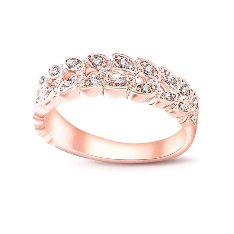 Classy Women Rose Gold Leaf Ring | Ring - Classy Women Collection
