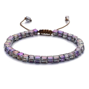 Purple Magic Beaded Crystal Bracelet