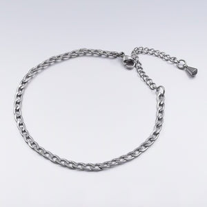 Curb chain anklet made of 316L stainless steel