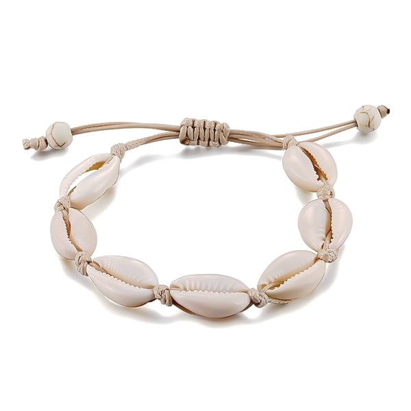 White cowrie shell anklet