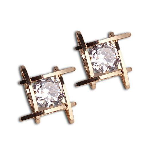 Classy Women Crystal Square Studs - Classy Women Collection
