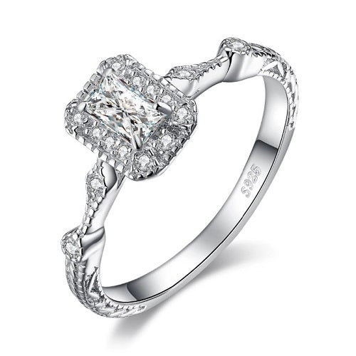 Classy Women 0.5ct Princess Cut Cubic Zirconia Engagement Ring | Ring - Classy Women Collection
