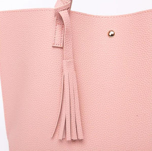 Classy Women Simple Pink Tote Bag | Handbag - Classy Women Collection
