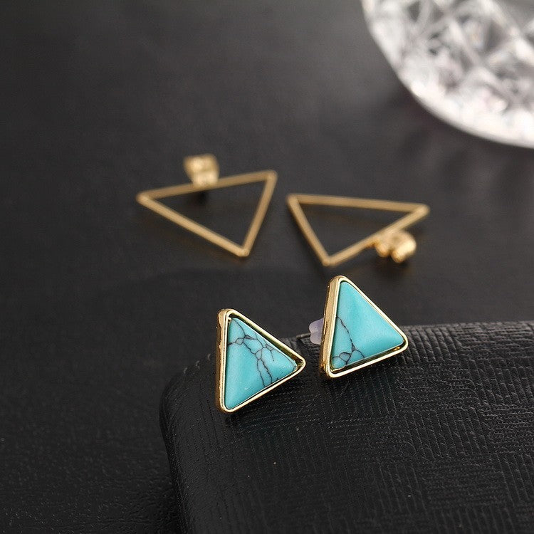 Classy Women Triangle Stud Earrings | Earrings - Classy Women Collection