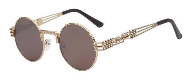 Classy Women Round Brown Sunglasses - Classy Women Collection