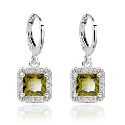 Classy Women Square Zirconia Earrings | Earrings - Classy Women Collection