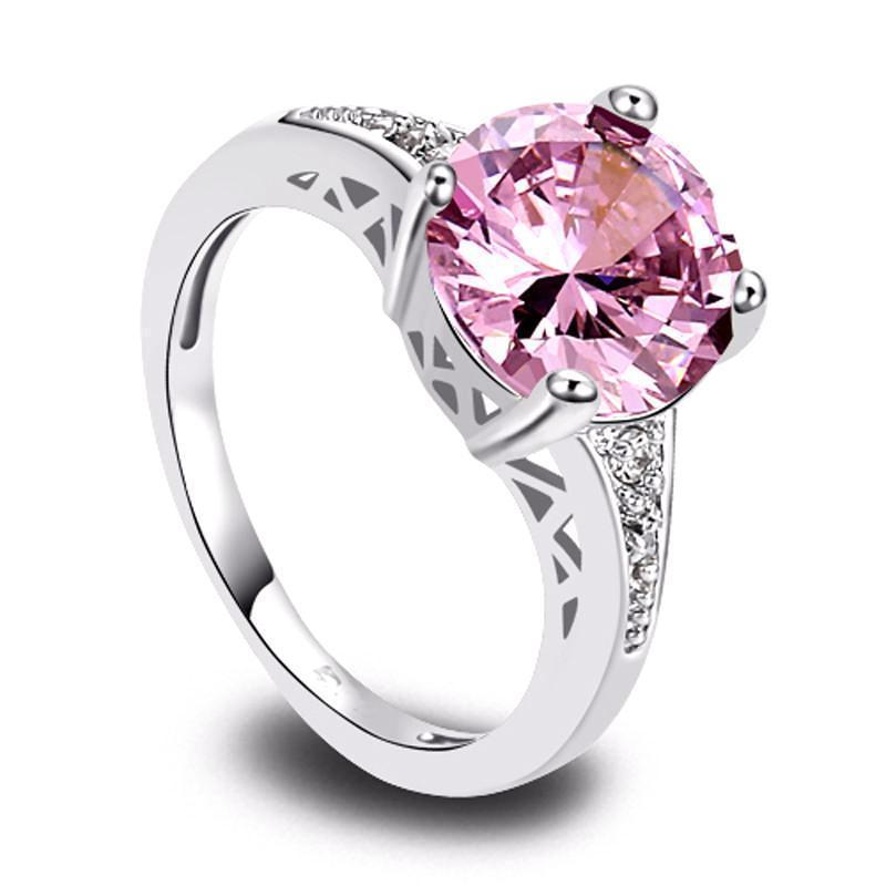 Classy Women Pink Zirconia Ring | Ring - Classy Women Collection