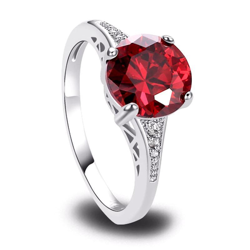 Classy Women Red Zirconia Ring | Ring - Classy Women Collection