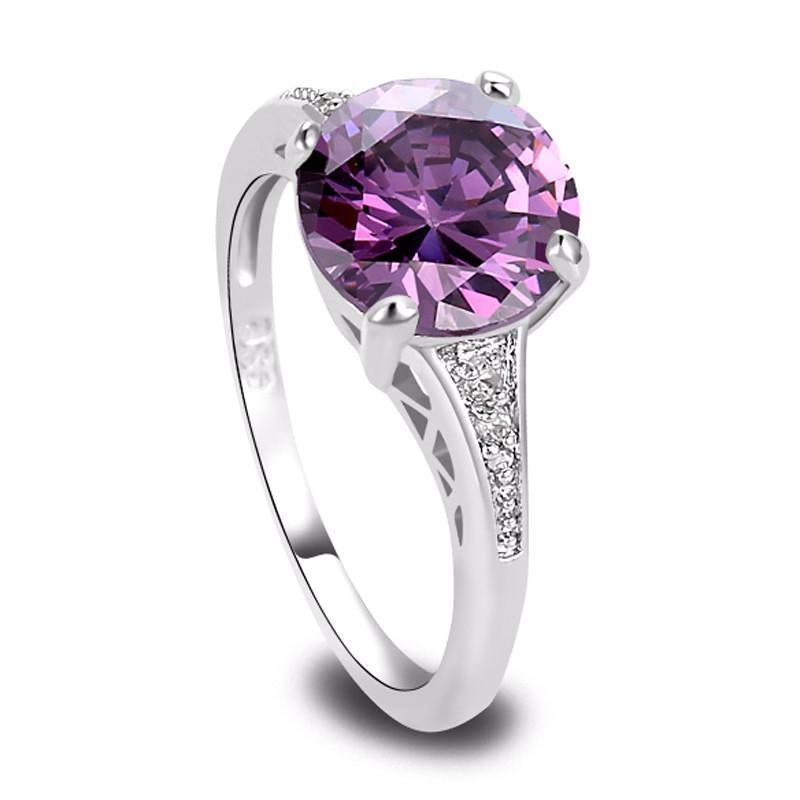 Classy Women Purple Zirconia Ring | Ring - Classy Women Collection