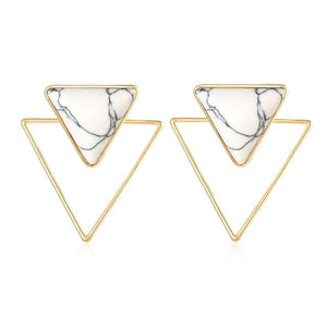 Classy Women Triangle Stud Earrings - Classy Women Collection