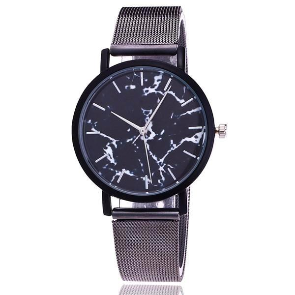 Classy Women Simple Marble Watch Black | watches - Classy Women Collection