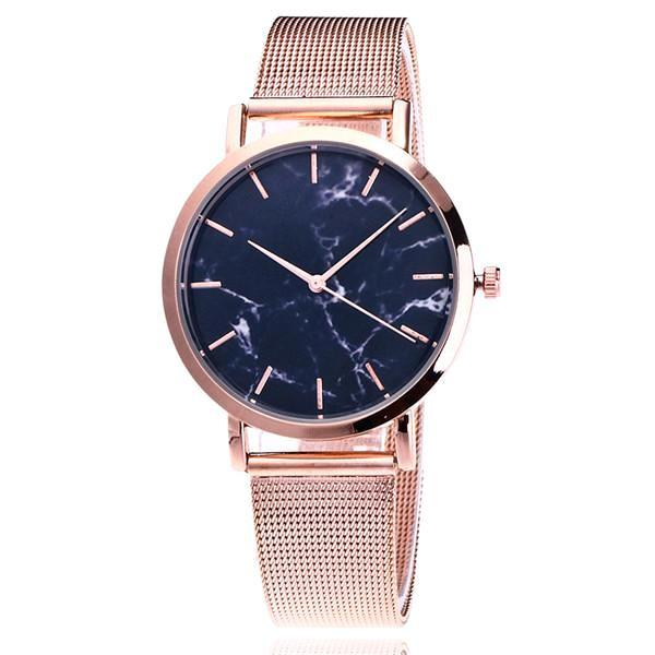 Classy Women Simple Marble Watch Rose Gold - Classy Women Collection