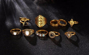 Classy Women Boho Ring Set (10 pieces) | Ring - Classy Women Collection