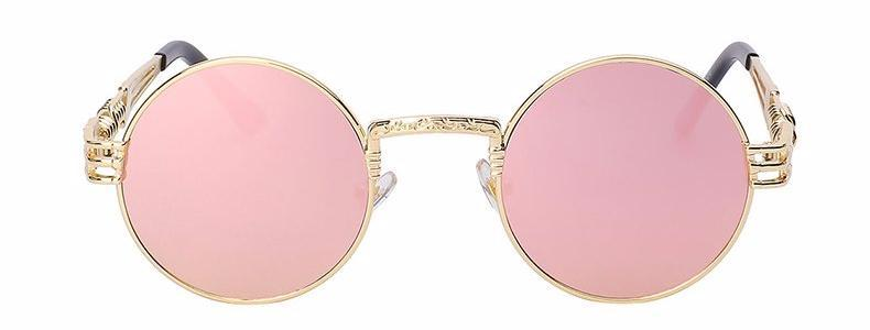 Classy Women Round Pink Sunglasses - Classy Women Collection