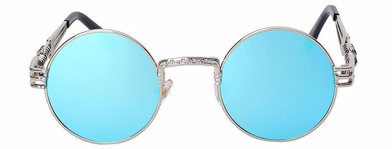 Classy Women Round Blue Sunglasses - Classy Women Collection