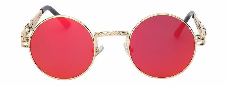 Classy Women Round Red Sunglasses | sunglasses - Classy Women Collection