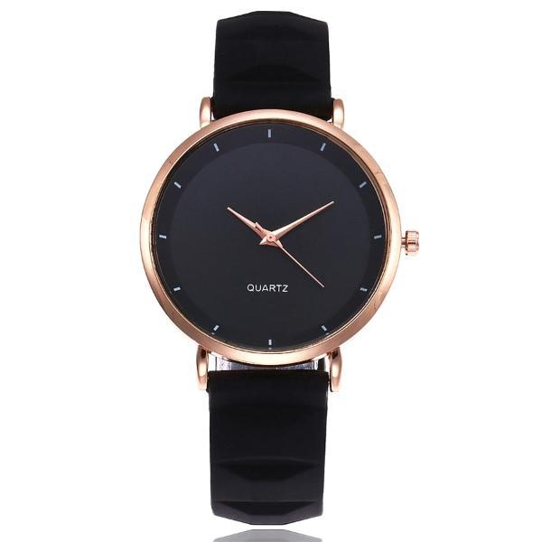 Classy Women Silicone Watch Black - Classy Women Collection