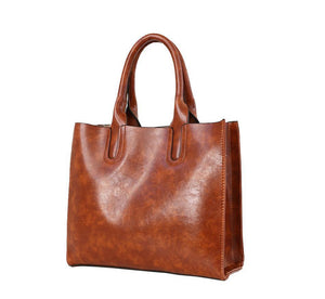 Classy Women Brown Handbag Set - 3 Pieces | Handbag - Classy Women Collection