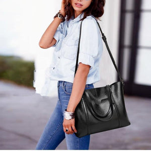 Classy Women Simple Leather Bag - 9 Colors