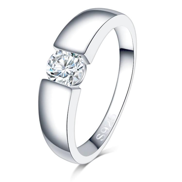 Classy Women 0.5ct 925 Silver Ring - Classy Women Collection