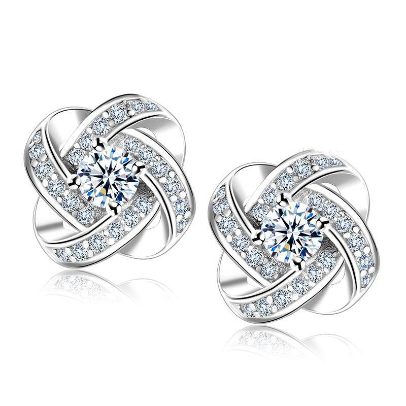 Classy Women Silver Jewel Studs | Earrings - Classy Women Collection