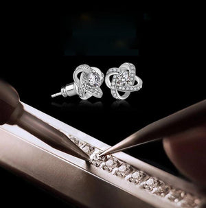 Classy Women Silver Jewel Studs - Classy Women Collection