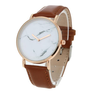 Classy Women Pure Marble Watch Brown - Classy Women Collection