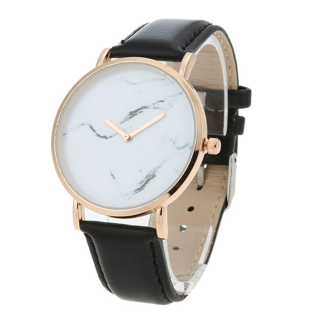 Classy Women Pure Marble Watch Black - Classy Women Collection