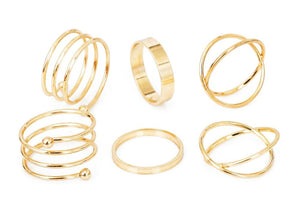 Classy Women Simple Ring Set (6 Pieces) | Ring - Classy Women Collection
