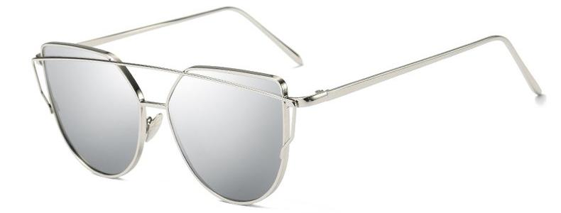 Classy Women Silver Cat Eye Sunglasses | sunglasses - Classy Women Collection