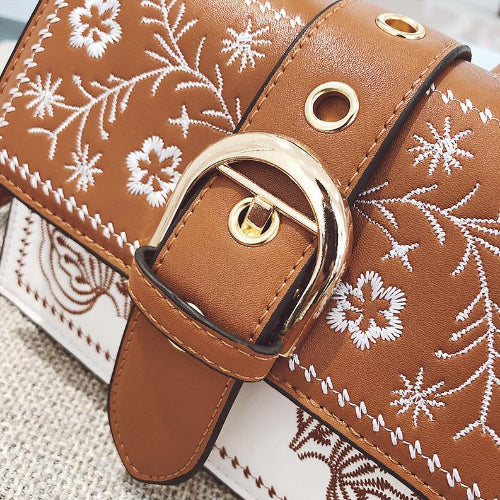 Classy Women Floral Crossbody Bag - 2 Colors | Handbag - Classy Women Collection