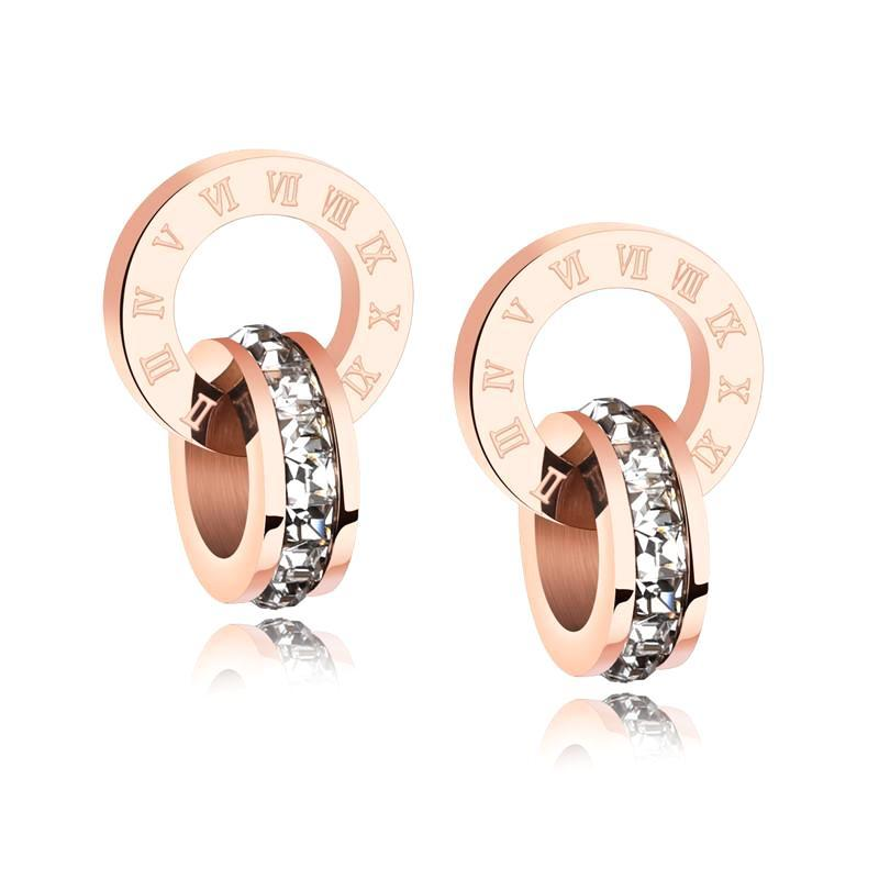 Classy Women Roman Numeral Earrings
