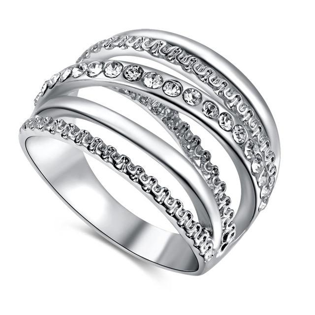 Classy Women Multi-Layer Ring | 3 Platings | Ring - Classy Women Collection