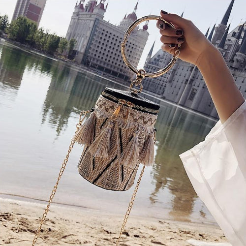 Classy Women Tassel Ring Handle Bag - 3 Colors | Handbag - Classy Women Collection