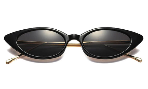 Classy Women Black/Gold Cat Eye Sunglasses | sunglasses - Classy Women Collection