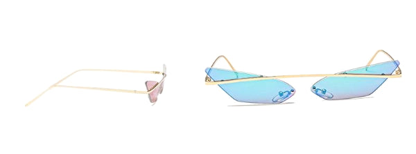 Classy Women Rimless Cat Eye Sunglasses | sunglasses - Classy Women Collection