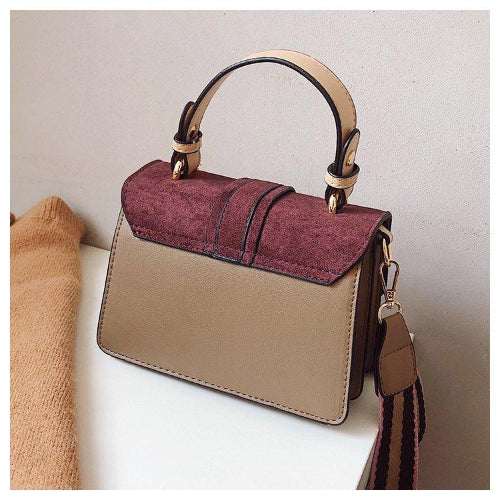 Classy Women Suede Crossbody Bag - 4 Colors