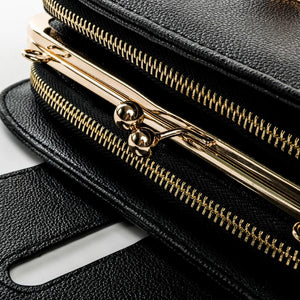 Classy Women Black & Gold Crossbody Bag | Handbag - Classy Women Collection