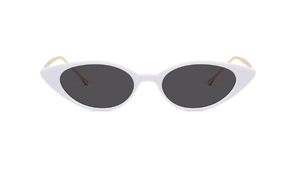 Classy Women White/Gold Cat Eye Sunglasses | sunglasses - Classy Women Collection