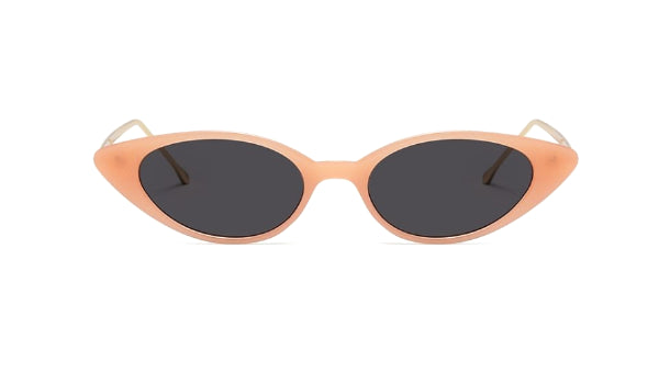Classy Women Peach/Gold Cat Eye Sunglasses | sunglasses - Classy Women Collection