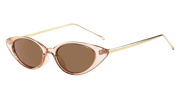 Classy Women Transparent Gold Cat Eye Sunglasses | sunglasses - Classy Women Collection