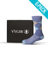 6 Pack - Athletic Dress Socks -  Select Your Colors